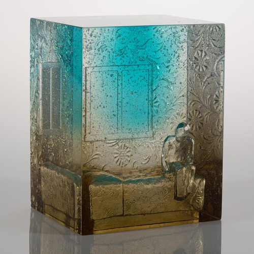 Bedroom, bronze/aqua #1