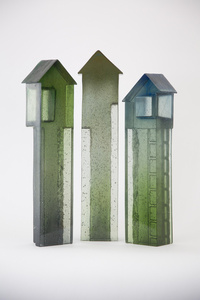 High Homes - Set of 3, H408 (tallest) x W100 x D67mm
