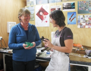 Jenny Scown and Di Tocker discuss the wax process